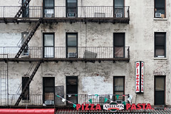 Pizza Pasta (GeraldGrote) Tags: stairs usa pizza manhattan fireescape newyork airconditioners windows facade city pasta us