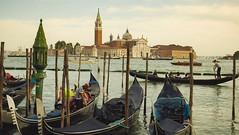 Gondolas (Kimmo Räisänen) Tags: venice venezia italy gondola canal sea panasoniclumixgm1 panasonic1260mm