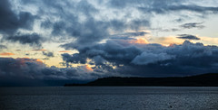 Evening Stormy Clouds (bhrushank1) Tags: lake taupo clouds sky evening water newzealand nature photography