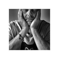 Hoping for a better day (CJS*64) Tags: forget whiteborder boarder portrait thinking thoughts thoughtful dslr d7000 nikon nikkorlens nikkor nikond7000 50mmf18lens 50mmnikkorlens 50mmf18d cjs64 craigsunter cjs blackwhite bw blackandwhite whiteblack whiteandblack mono monochrome people person male man