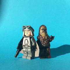 Han Solo and Chewbacca (FxanderW) Tags: lego starwars minifigure custom moc solo astarwarsstory hansolo chewbacca qira mimban mudtrooper swamptrooper