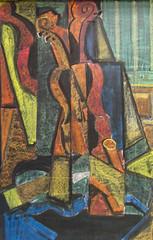 7th Grade; Art; After Juan Gris (ArneKaiser) Tags: 7thgrade autoimport boarddrawings edited mrkaisersclass pineforestschool waldorf waldorfjourney chalk chalkboard chalkdrawings