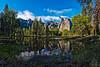 Reflection (Yosemite Village) (campmusa) Tags: nationalpark mercedriver water california californiastate landscapes mountains cliffs yosemitevillage yosemitenationalpark forest sierranevadamountains sequoia trees granitecliffs