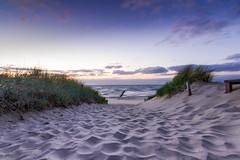 Path to the Beach ([-ChristiaN-]) Tags: beach strand abend evening night sunset light beautiful bluehour sonnenuntergang sand sea meer balticsea zingst tokina 1116 atx 116 pro