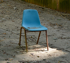 One Blue Chair (BKHagar *Kim*) Tags: bkhagar chair one blue outdoor vintage art