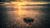 Sunset Rock (jmbillings) Tags: 10stop blur cloud dramatic filter hunstanton light longexposure norfolk northnorfolk orange reflection rock sea sky stone summer sunset voigtlander waves