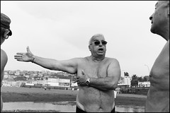(Let The Hands Do The Talk) (Robbie McIntosh) Tags: leicam9p leica m9p rangefinder streetphotography 35mm leicam autaut candid strangers leicaelmarit28mmf28iii elmarit28mmf28iii elmarit 28mm seaside man tan naked sand mappatellabeach lidomappatella belly fat