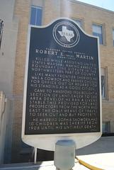 Hansford County Sheriff Robert E. (Bob) Martin (1868 - 1911) (ednurseathkh) Tags: texas texashistoricalmarker hansfordcounty hansfordcountysheriffrobertebobmartin spearman 18x28 sheriff robertebobmartin cowboy farmer person sophiasnowden
