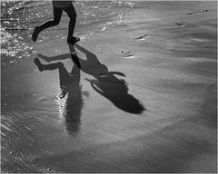 Shadows on the beach (beninfreo) Tags: shadows beach blackandwhite bw black reflection mono monochrome surf wave sand texture contrast fremantle westernaustralia perth