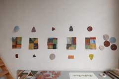 de eerste collages (marianbijlenga) Tags: sandpaper schuurpapier collage colorstudy