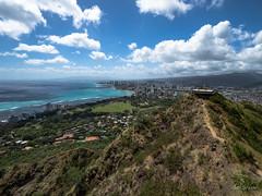 Honolulu from the top of Diamondhead (GarSham) Tags: pacific ocean honolulu oahu landscape hawaii diamondhead crater