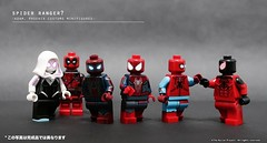 Spider Rangers! Ummmm......is there something strange about the team? (The Ka. Lor Project) Tags: marvel minifigures lego deadpool infinitewar avengers homecoming amazing spiderman