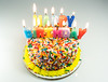 Cake (si_glogiewicz) Tags: cake candles happy birthday celebration celebrate flames fire cakes sprinkles sprinkle decoration
