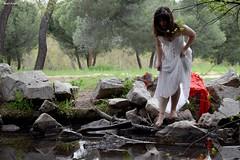 Rio (davidmartinezcarpintero) Tags: caperucitaroja casadecampo madrid cuento chica teatro fantasia actriz mujer comunidadespañola