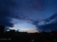 here the darkness comes down (navila_29) Tags: skylover shadesofsky skyphotography sky eveningsky eveningsun evening dusk urbanphotography urbansky urban dhaka dhakacity bangladesh amateurclick amateur amateurphotography sunset love amazing blue clouds cloud mobilephotography mobileclick skyscrapper nwn