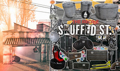Action @  The Arcade ! (MarilynMonroe Munro) Tags: action thearcade sl secondlife 2018 june skuffed scuffed garage industrial street mesh toolbox server flightcase skull apocalyptic urban