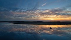 Reflection at Nudgee (noompty) Tags: sunrise nudgeebeach reflection clouds cloudscapes driftwood water seascape shorescape k1 pentax on1pics photoraw2018 wideangle hddfa1530mmf28edsdmwr