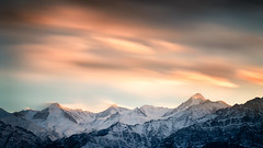 Stok - Standing strong (Gautam Pardake) Tags: gautam india ladakh pardake travel himalayas mountains hills snow capped long exposure slow shutter clouds sunset colours movement