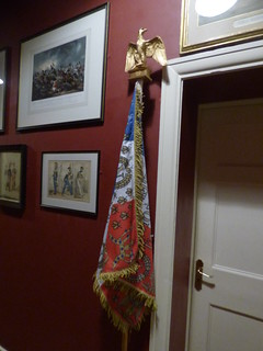 Plas Newydd - The House interior - Waterloo Cavalry Museum - French Empire flag