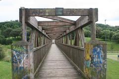 Parque de Invierno (Jusotil_1943) Tags: 020618 puente bridge madera wooden oviedo parque park