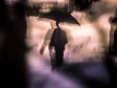 Tulpa (Anthez Anthez) Tags: anthez tulpa fragmental couleurs pause longue irréel rêve unreal dream atmosphere ambiance parapluie umbrella street urban rue urbain modern art introspection nuit noflash nuitnoire ville montpellier neige snow road poetic purple inquiétante étrangeté inquiétanteétrangeté night