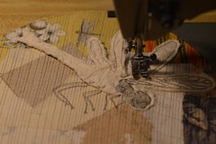 stitching (Danny W. Mansmith) Tags: workinprogress commission dragonfly improvisational sewing drawingwiththesewingmachine dannymansmith handmade originalart burienwashington oneofakind fabric fiberart