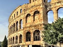 Golden Arena (aiva.) Tags: croatia istria pula hrvatska coliseum arena sunset architecture ruins istra balkan amphitheater jadran adriatic antic