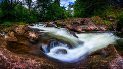 A Bend in the River (Augmented Reality Images (Getty Contributor)) Tags: trees spring perthshire landscape waterfall river forest nisifilters buchantyspout water scotland canon longexposure nature rocks unitedkingdom gb