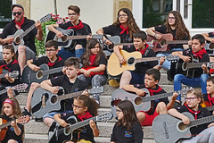 musicians (albyn.davis) Tags: luxembourg people children group music musicians guitars colors colorful red faces expressions city europe