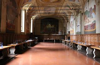 refettorio dell'abbazia di Monte Oliveto Maggiore