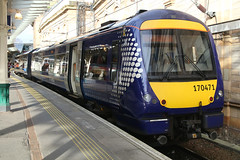 170471, Edinburgh Waverley, April 5th 2017 (Southsea_Matt) Tags: 170471 class170 bombardier turbostar abellio scotrail lothian scotland unitedkingdom canon 80d sigma 1850mm april 2017 spring train railway railroad vehicle passengertravel publictransport dmu dieselmultipleunit