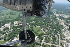 1929 Ford Tri-Motor (Adventurer Dustin Holmes) Tags: 2018 1929 ford trimotor aviation aircraft airplane plane old historic antique flying lebanonmissouri lebanonmo missouri lacledecounty aerial view engine motor nc8407 landinggear wheel tire