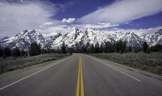 Road Shot Tetons