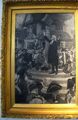 DSC_2044 John Wesley's Chapel City Road London Black and White Painting John Wesley Preaching from a market cross. Original painting by W Hatherall RA 1909. John Wesley was the founder of the Methodist Church. He was an Abolitionist and a preacher (photographer695) Tags: john wesley's chapel city road london black white painting wesley preaching from market cross original by w hatherall ra 1909 was founder methodist church he an abolitionist preacher who wrote preached against slave trade