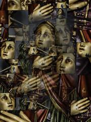 Saint Lucy (Mari Van Cauteren) Tags: saintlucy collage colors statue beernem bistro