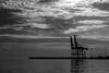 Port of Malaga (petia.balabanova(tnx for +3 million views)) Tags: twilight light costadelsol portofmalaga port malaga spain sea sky clouds water monochrome blackandwhite bw nikond800 2470mm travel silhouette