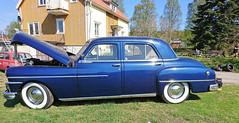 1950 De Soto (crusaderstgeorge) Tags: crusaderstgeorge classiccars cars americancars americanclassiccars americancarsinsweden 1950desoto 1950 de soto bluecars veterancar örnsköldsvik sweden sverige