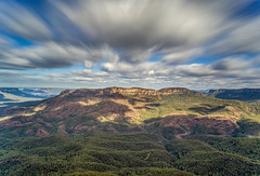 Sublime Point (Eddy Summers) Tags: sublimepoint bluemountains bluemountainsnationalpark nsw australia mountains sky clouds forest trees landscape vibrant pixelshift longexposure 24mmf28 smc24mm28 cpl circularpolarizer vintagelens vintageglass colourful