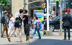 Buddy Offers Free Hugs & Many People Accept .... Dundas Square, Toronto, Ontario (Greg's Southern Ontario (catching Up Slowly)) Tags: torontoist freehugstoronto freehugs dundassquare people kindness