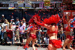 Carnaval Parade SF 176 (TheseusPhoto) Tags: girls women costume colors colorsoftheworld people candid candids parade carnaval sanfrancisco missiondistrict streetphotography street streetportrait festival culture dance confetti dancing