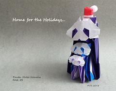 Panda Family -- Home for the Holidays (Zesque) Tags: origamipanda panda hideokomatsu worksofhideokomatsu homefortheholidays pandafamily pandaorigami origamianimal hideopanda 小松英夫作品集 小松英夫 折り紙 パンダ