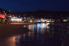 Neon nights at Scarborough (Tony Worrall) Tags: britain english british gb capture buy stock sell sale outside outdoors caught photo shoot shot picture captured england regional region area northern uk update place location north visit county attraction open stream tour country welovethenorth yorkshire yorks northyorkshire seaside seasidetown resort night beach neon lights evening shine lit reflection beauty dark