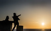 pointing (tramsteer) Tags: tramsteer pointing sunset silhouette people street portishead wales somerset lakeground