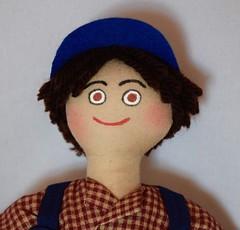 Boy Doll in Overalls (joellesdolls) Tags: boydoll boys handmadedoll toydoll toysforkids ragdoll clothdoll oneofakind joellesdolls