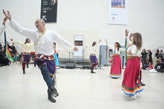 Faiths in Tune (2018) 37 - Dzogchen Khaita Dancers (KM's Live Music shots) Tags: worldmusic greatbritain italy dzogchenkhaitadancers tibetandance dancers faithsintune britishmuseum