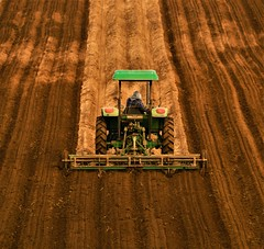 Tractor Art (Michael T. Morales) Tags: soil tractor rows furrows linear agriculture agart