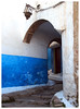 Kasbah (Gurugo) Tags: rabat morocco maroc marrocos kasbahoftheudayas kasbahdosudaias kasbahdesoudaias rua street arch arco blue white azul branco parede wall lamp candeeiro