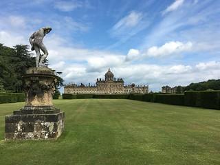 Castle Howard and dancing faun statue