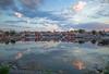 Summer night (RdeUppsala) Tags: östersjön öregrund hav harbor hamn kust kväll cielo clouds nubes moln himmel anochecer sverige suecia sweden sky sea baltic báltico mar paisaje puerto summer sommar vatten verano water spegling reflejo reflection ricardofeinstein uppland coast costa
