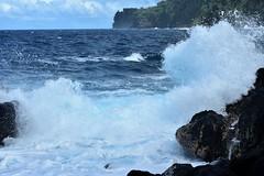 Splash (thomasgorman1) Tags: lavarock surf waves splash seascape shore coast hawaii nikon rockt water laupahoehoe scenic view beach park cliff sky